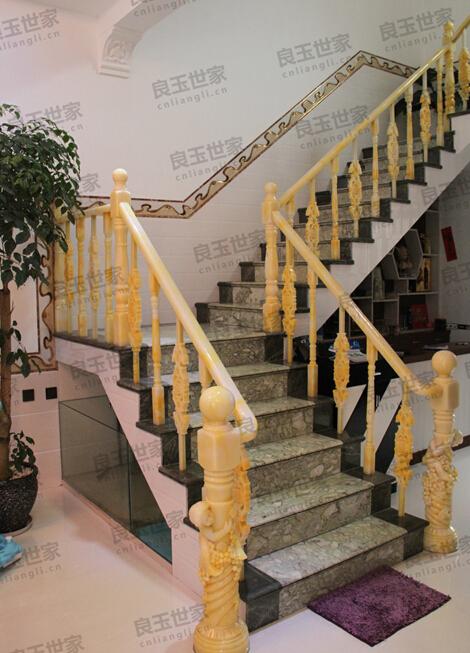 玉石楼梯扶手展示