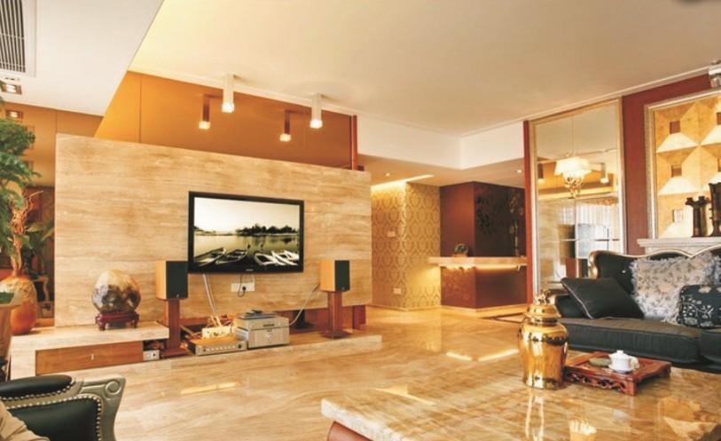 玉石电视背景墙